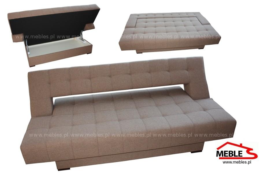 Nowoczesna Sofa Bez Boków Pikowana Trend