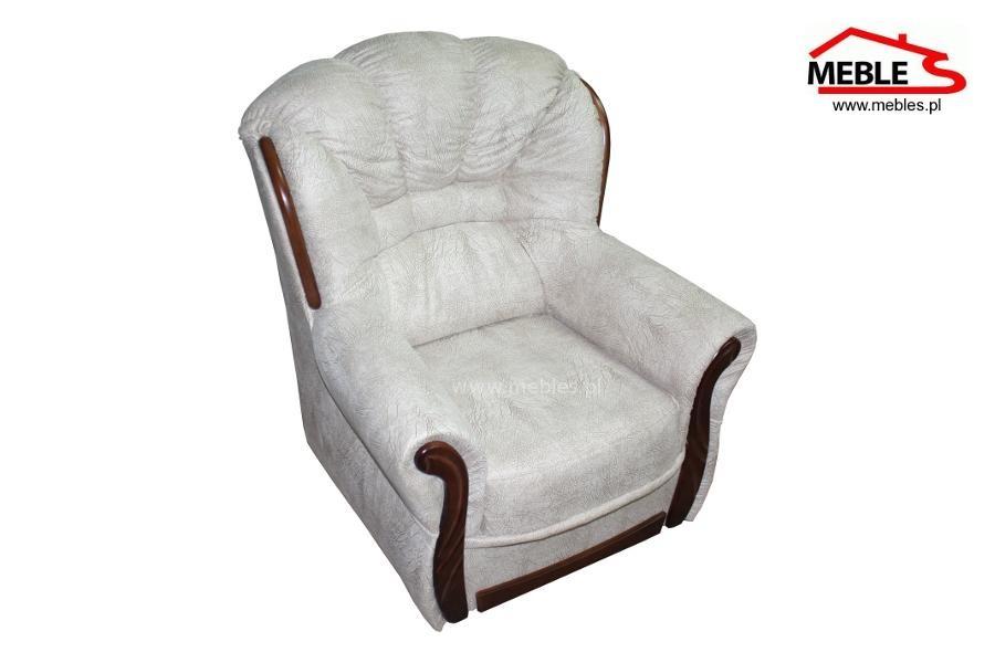 Stylowy Fotel z Drewnem Romeo