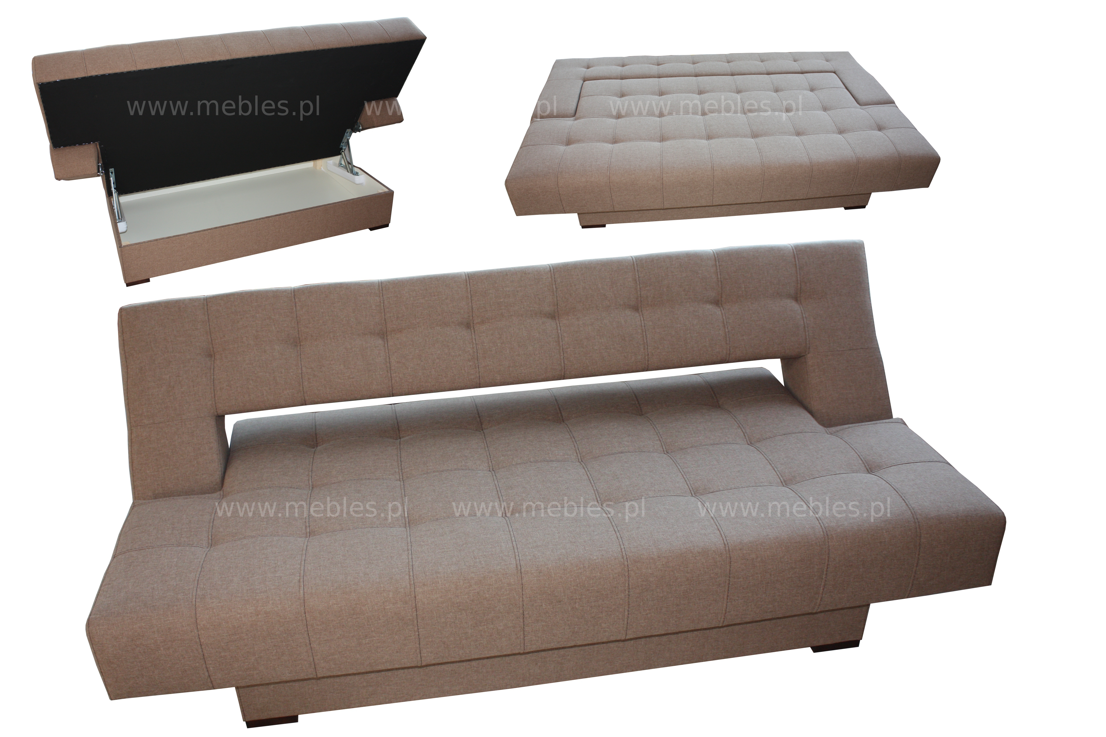 5 Nowoczesna Sofa-Wersalka Bez Boków Tr